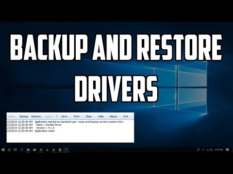 How To Backup and Restore Drivers In windows 10 PC or Laptops