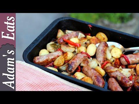 Sausage and potato tray bake | One pan meal