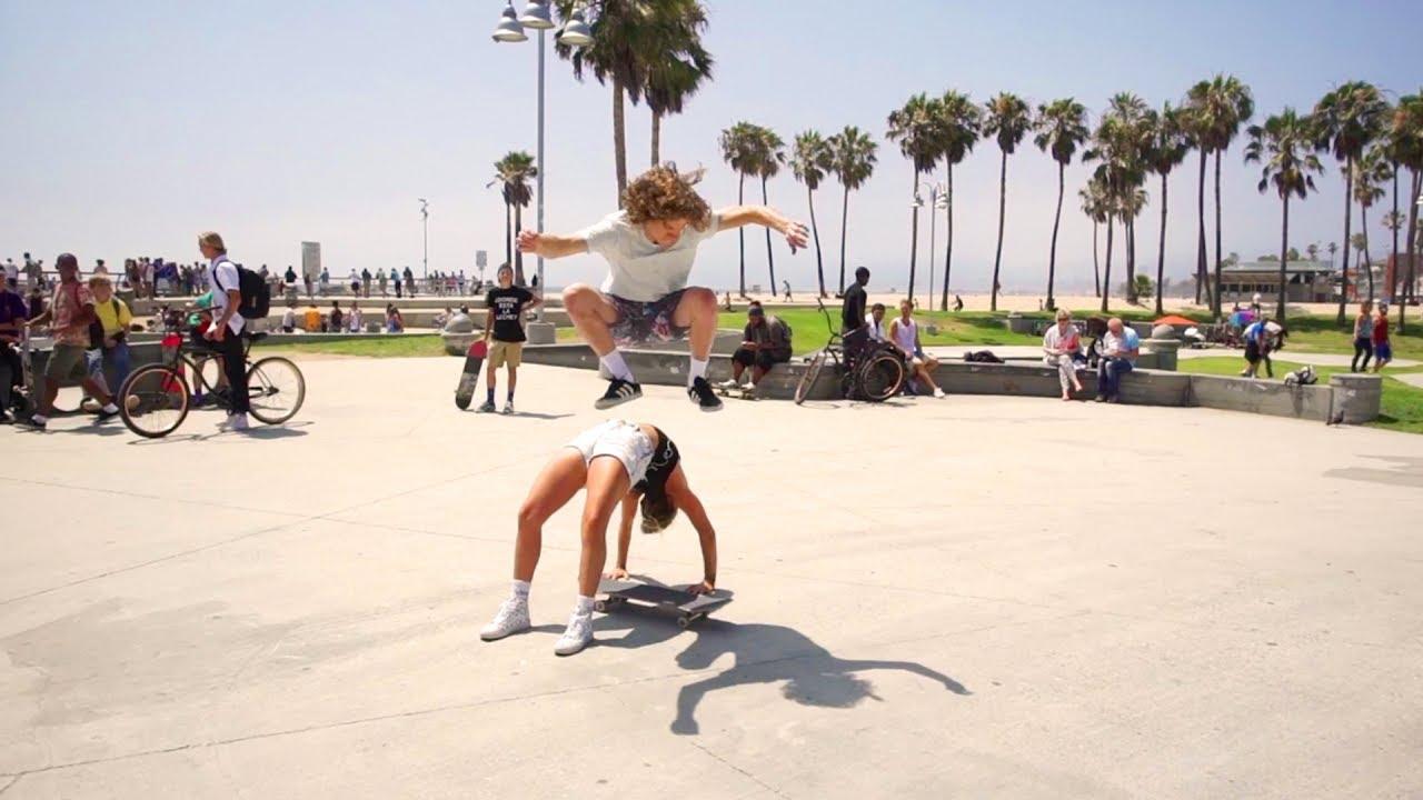 Skating Over Girls!