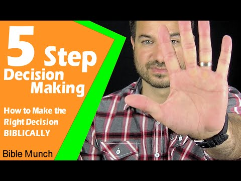 5 Step Decision Making - How to Make the Right Decision Biblically | Jeremiah 41:17 Bible Study