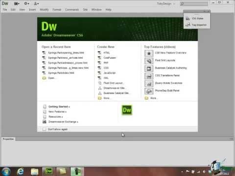 Dreamweaver CS6 Tutorial:  Basic HTML - Part 4 - Create a Website Course