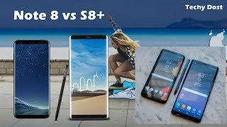 Samsung Galaxy Note 8 vs S8 + , Similarities & Differences in Hindi