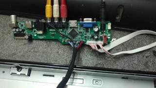 DIY LCD LED TV UNIVERSAL LCD BOARD V56 03 , V59, V29 #10 - PlayTunez