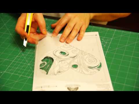 How to make stencils for brad or cake decoration