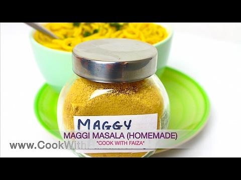 MAGGI MASALA (Powder) - میگی مسالا -  मैगी मसाला  *COOK WITH FAIZA*