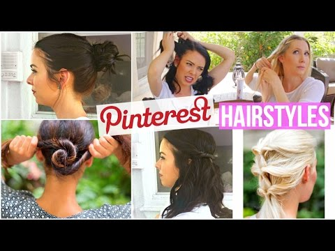 10 Pinterest Hairstyles TESTED! for Short Hair and Long Hair!