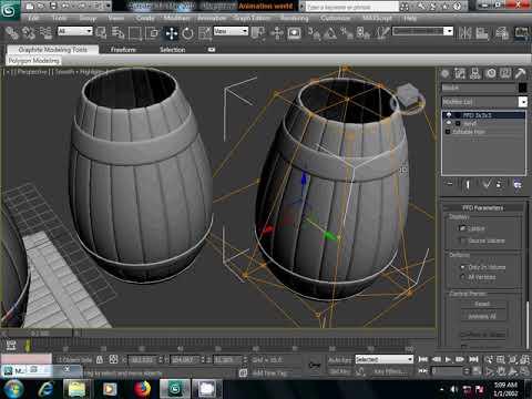 3Ds max wooden barrel making tutorial