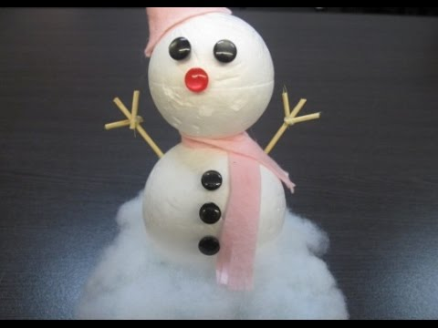 DIY : #45 Christmas Snowman (Decoration) ♥
