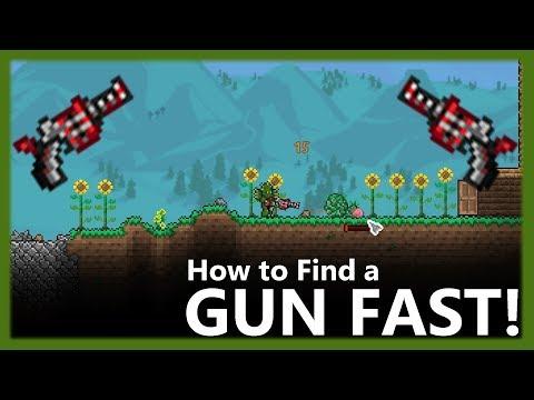 Terraria - How to Find a Gun Fast! The Undertaker