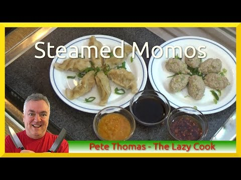 How to Cook Steamed Momos - Chinese Potsticker & Lions Head Dumplings