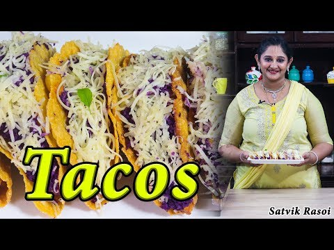 Mexican Tacos Recipe   टाकोस रेसिपी   Vegetable Tacos