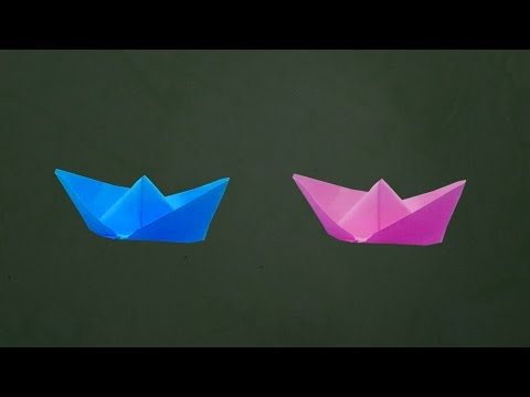 How To Make a Simple Paper Boat That Floats - Origami | Paper Boats For Kids | Easy Steps