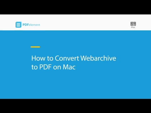 How to Convert Webarchive to PDF on Mac