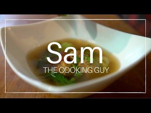Asian Chicken Meatball Soup
