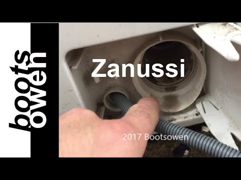 How to clean Zanussi Lint filter