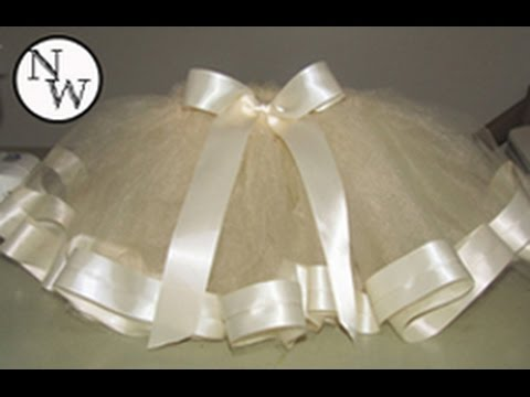 DIY Tulle Skirt with Satin Trim!