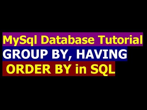 How To Use Group By And Having in SQL SELECT Statement - MySql Database Bangla Tutorial Part 20