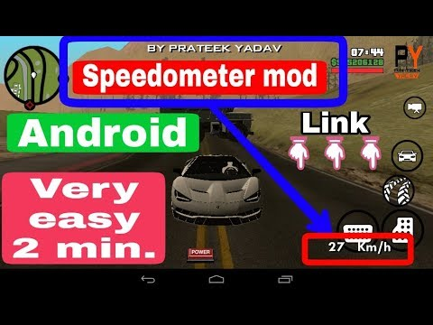 GTA:SA (Speedometer) Android.#(no root)How to install.