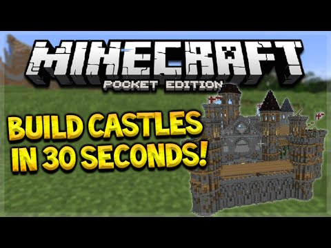 BUILD MCPE CASTLES IN SECONDS!! Minecraft PE 0.15.6 - Build Sky Wars, Castles In 30 Seconds!