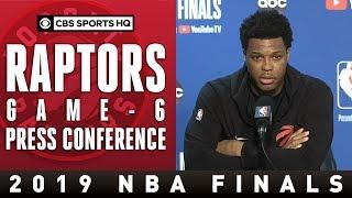 Toronto Raptors Game 6 Press Conference | 2109 NBA Finals | CBS Sports HQ