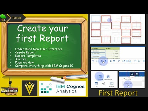 #5 Create your first Report using IBM Cognos Analytics