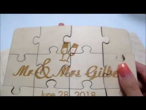 Wedding Wooden Puzzles as Guest Book