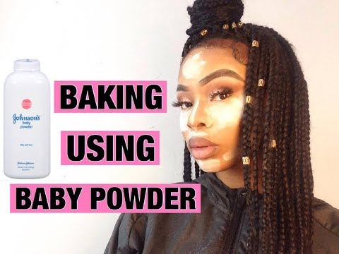 DOES BAKING WITH BABY POWDER REALLY WORK?! | Stephaine Uba
