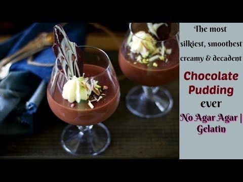Eggless Chocolate Pudding without Agar Agar or Gelatin