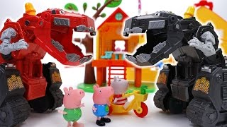 Go Go Dinotrux~! D-Structs is Bullying Peppa Pig Friends