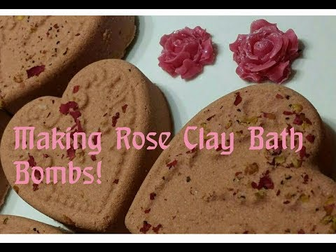 Valentine's Day Bath Bombs With Rose Clay