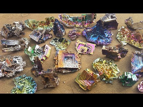 How to Make Large Bismuth Crystals on the Stove, Melting Bismuth, Casting Ingots, Making Crystals