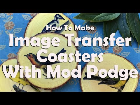 How To Make Image Transfer Coasters With Mod Podge