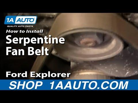 How To Install Replace Broken Serpentine Fan Belt Ford Explorer 4.0L 1AAuto.com