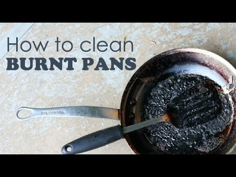How to clean burnt pans | Ventuno Kitchen Tips