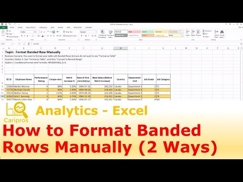 How to Format Banded Rows Manually (2 Ways)