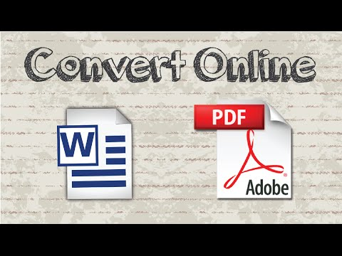 How to convert a Word document to PDF online