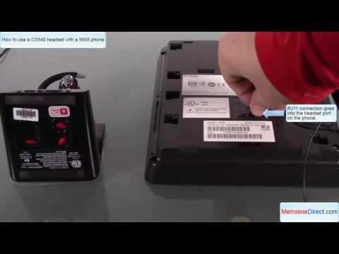 Avaya 9508 with  CS540 Headset - How to install