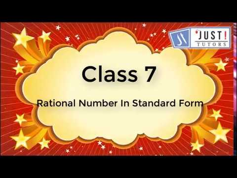 Rational Numbers: Rational Numbers in Standard form and Comparison of Rational Numbers