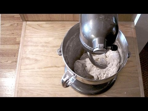 Making Bread/Pizza Dough with Fresh Yeast  using the KitchenAid Pro 600 6 qt. Mixer