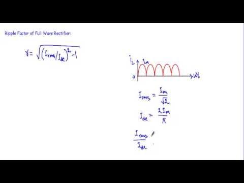 Ripple Factor of Half-wave & Full Wave Rectifier