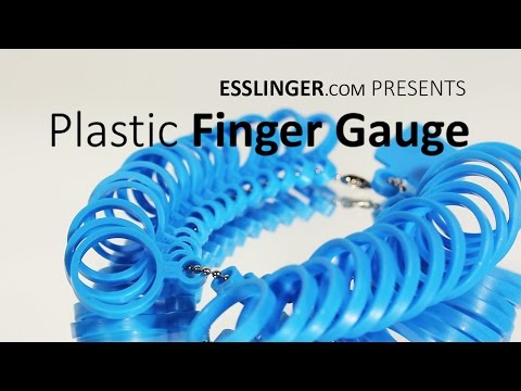 Plastic Ring Finger Size Gauges