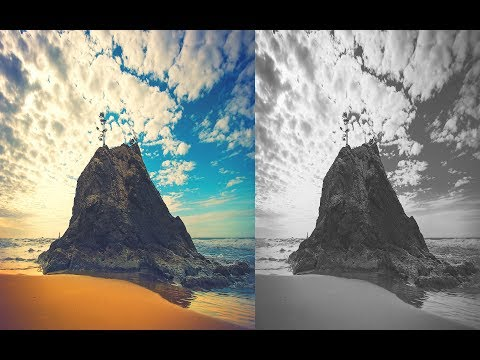 how to apply black and white effect in photoshop CC