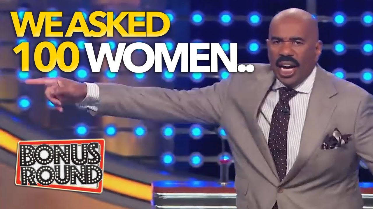 WE ASKED 100 WOMEN! Steve Harvey Best Answers & Moments On Family Feud