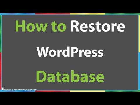 How to Restore WordPress Database Using phpmyadmin