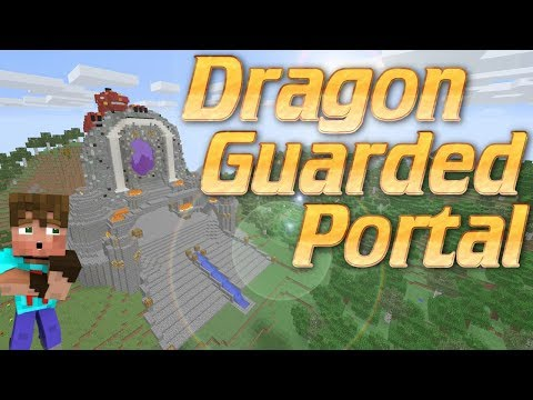 Minecraft: How to Make a Custom Nether Portal GUARDED BY A DRAGON in Minecraft | Freestyle Tutorial