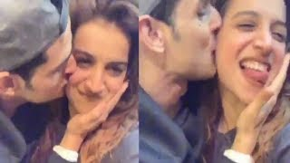 Priyank Sharma Kissing Benafsha Soonawalla All Over Her Face On LIVE VIDEO