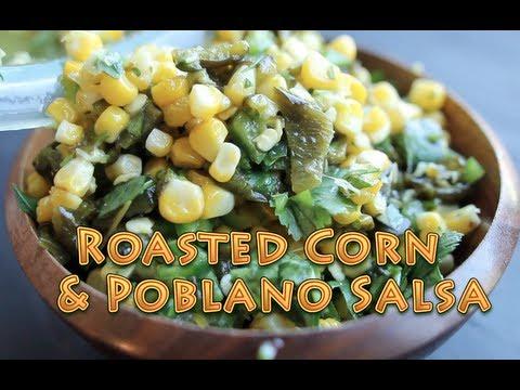 Chipotle's Chili-Corn Salsa - Roasted Poblano - Recipe