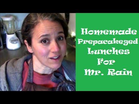 Homemade Prepackaged Lunches for Mr. Rain