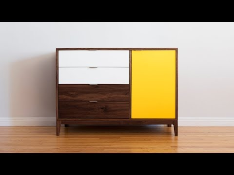 How To Build a Mid Century Modern Dresser - Woodworking