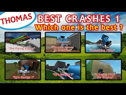 The Best Crashes 1   Thomas and Friends Roblox Accidents Remake